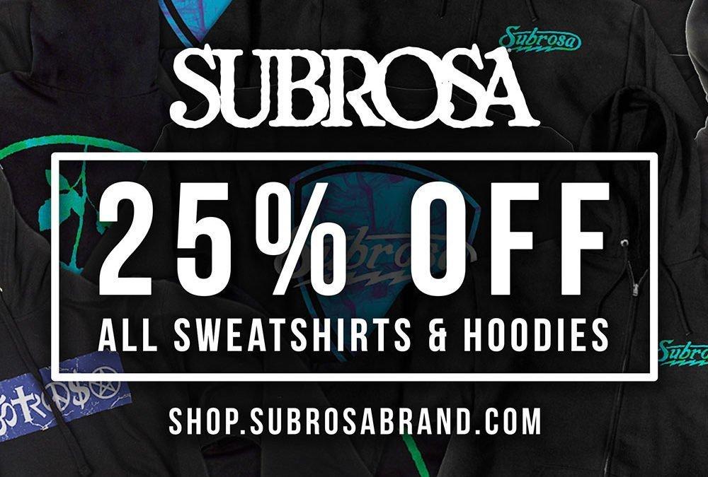 25% off all Sweatshirts!